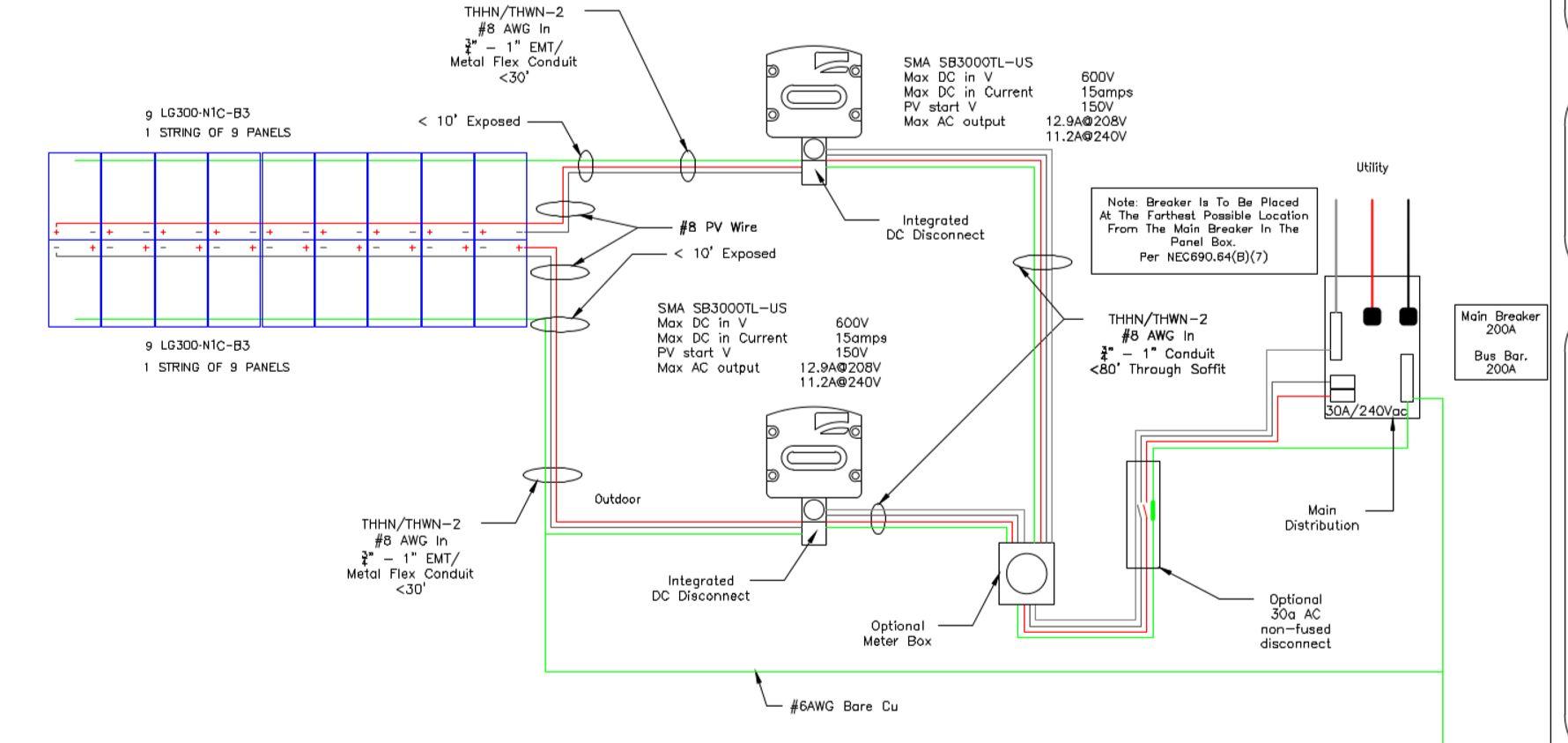 Tanager Lane 54kw Solar Array 12 String Wiring Diagram